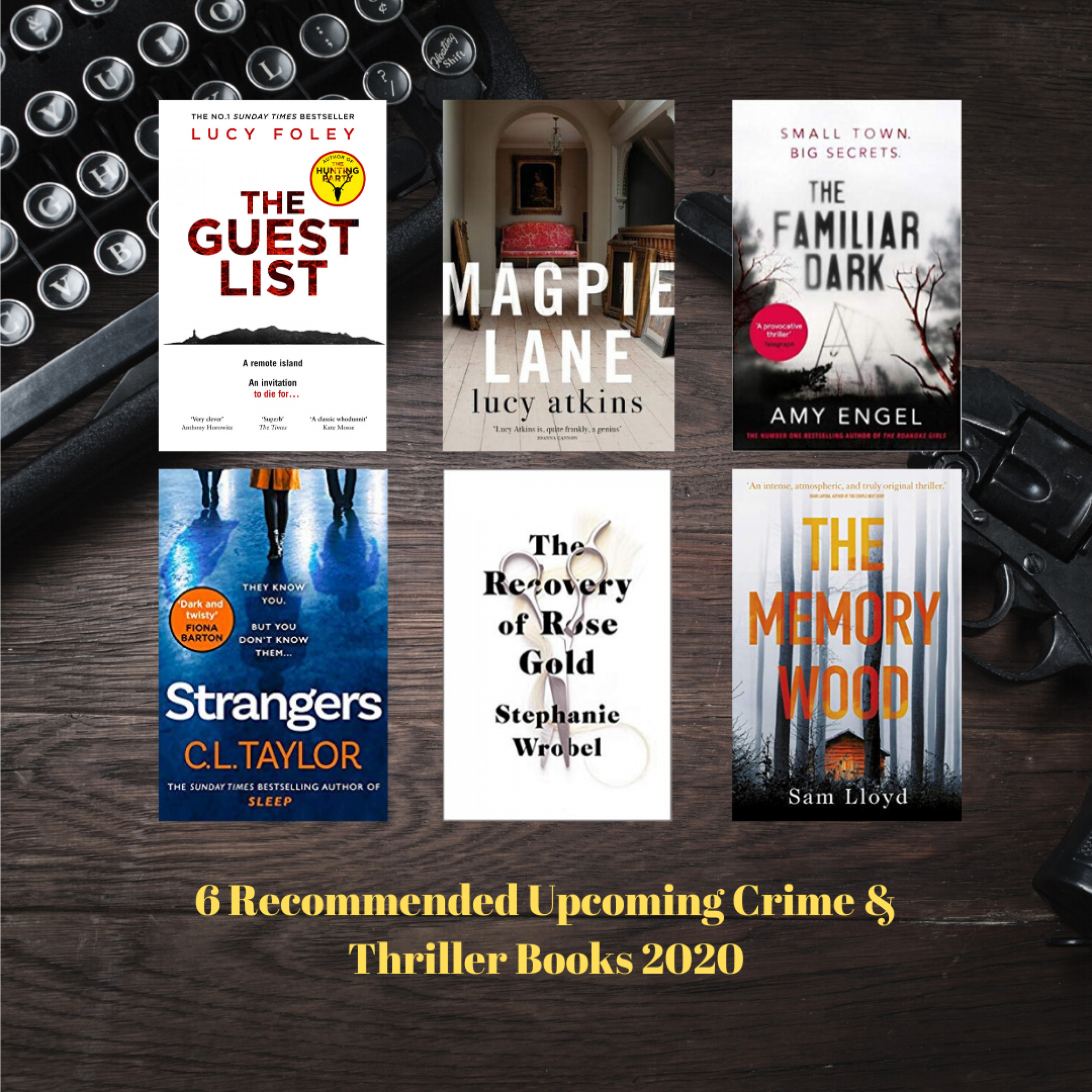 6 Recommended Upcoming Crime & Thriller Books 2020