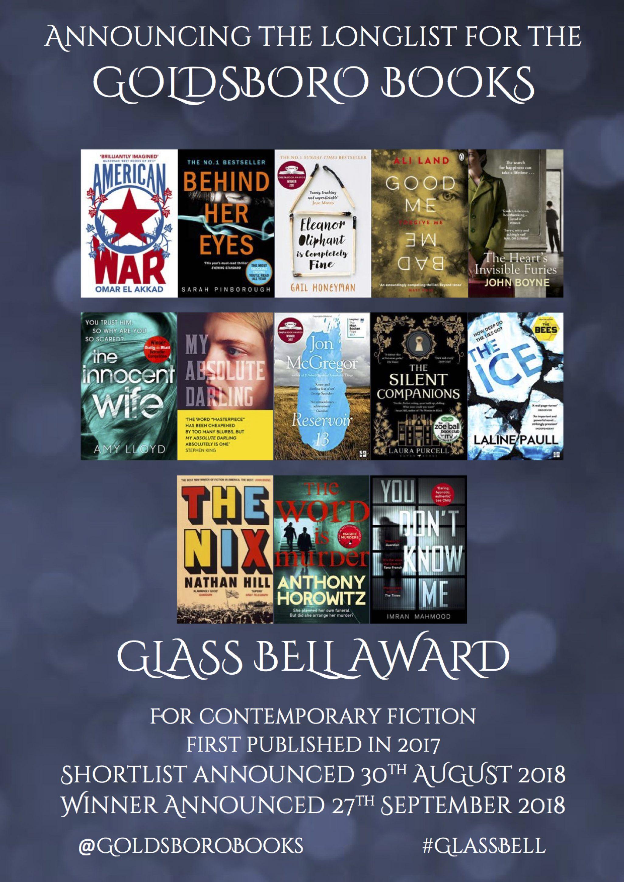 The Goldsboro Books Glass Bell Longlist