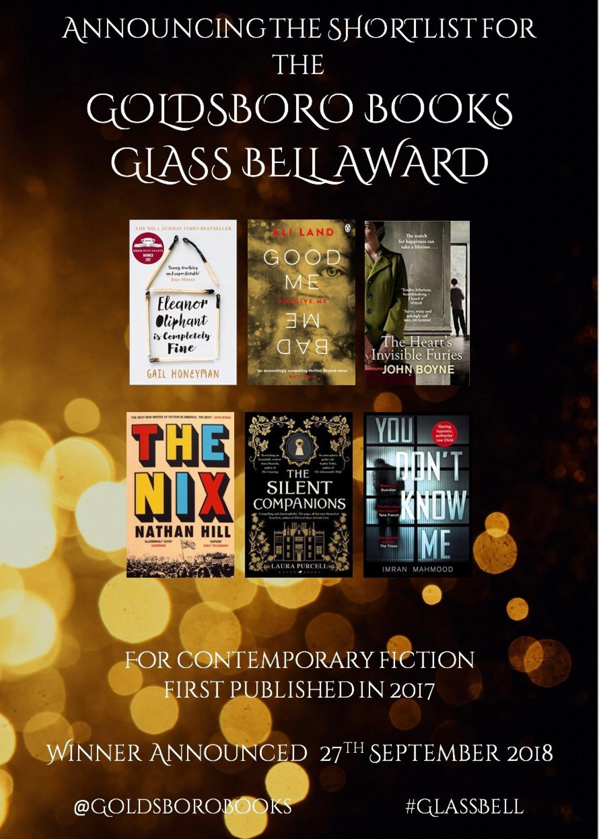The Goldsboro Books Glass Bell Shortlist
