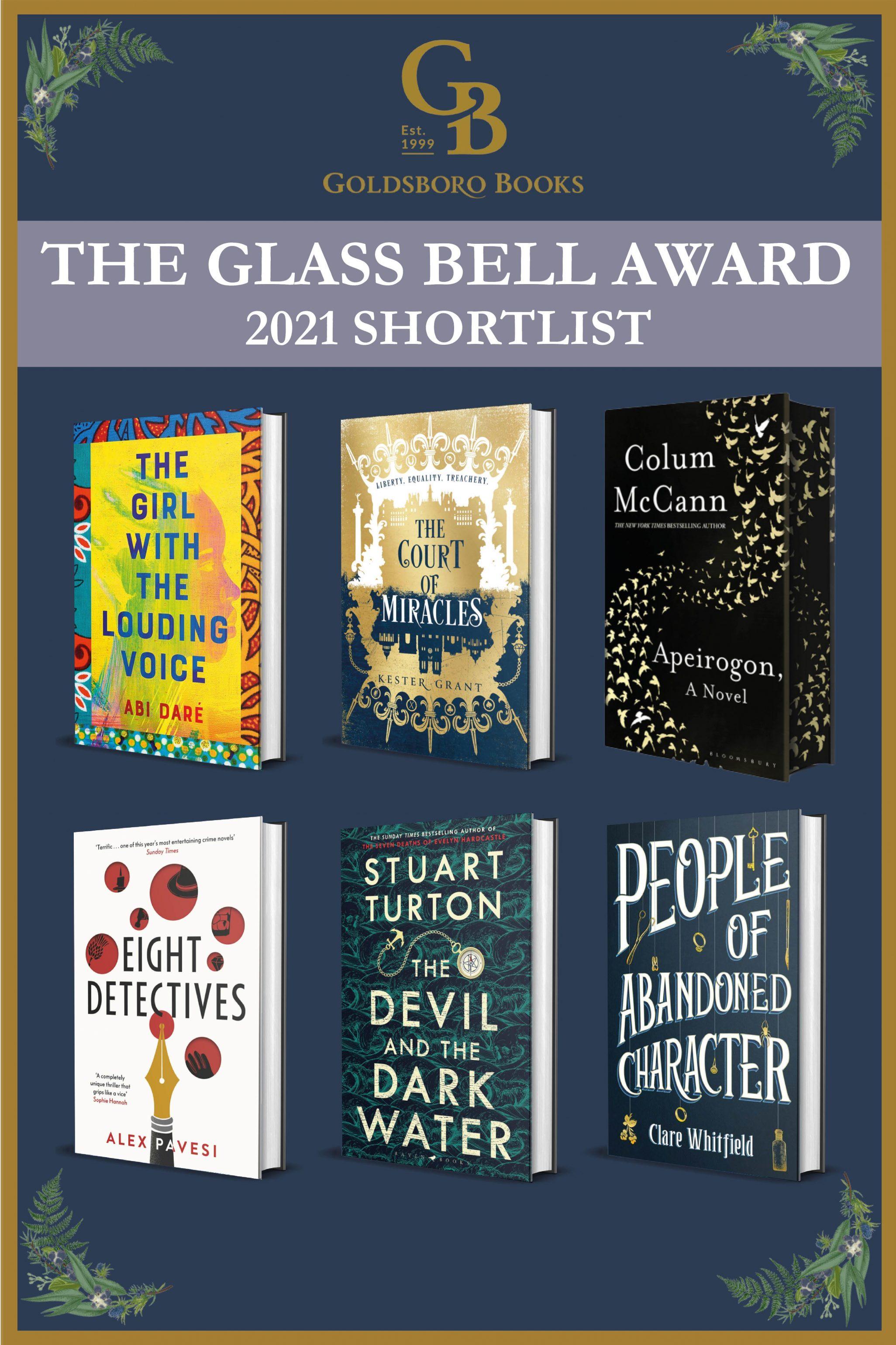 Goldsboro Books Glass Bell Award 2021 Shortlist
