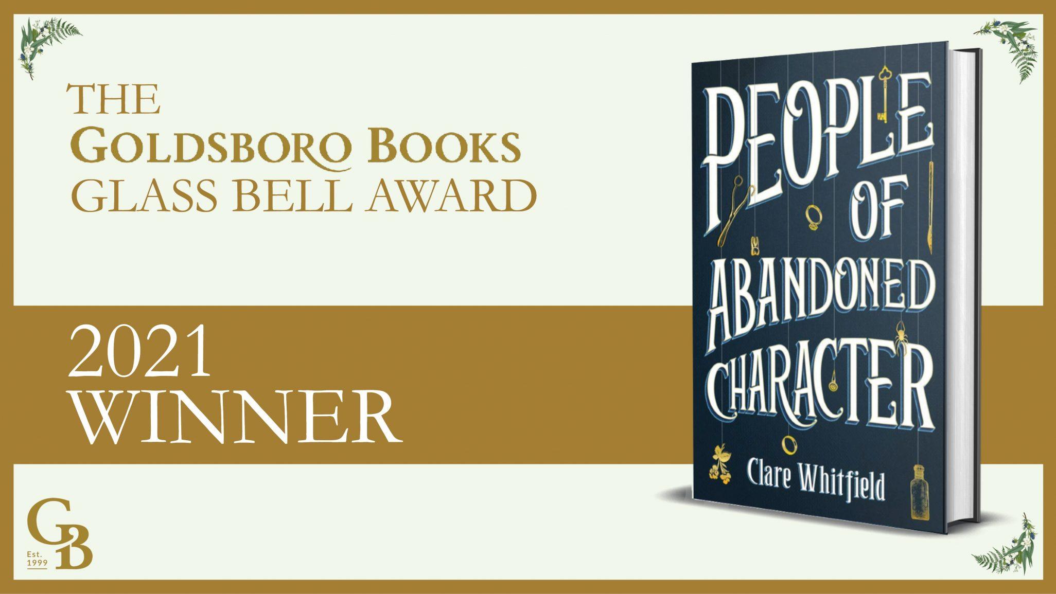 Goldsboro Books Glass Bell Award 2021 - Winner